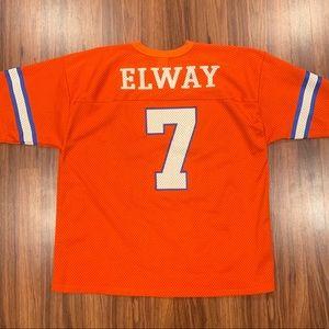 Vintage John Elway Denver Broncos Jersey Logo 7 XL
